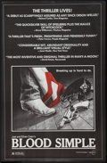 "Movie Posters:Thriller, Blood Simple (Circle Films, 1985). Poster (24"" X 37""). Thriller....."