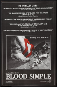 """Blood Simple (Circle Films, 1985). Poster (24"""" X 37""""). Thriller"""