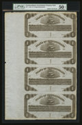 Canadian Currency: , St. John's, NF- Government of Newfoundland $1-$1-$1-$1 Ch. NF-1Uncut Sheet . ...