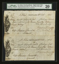 Canadian Currency: , St. Johns, Newfoundland- Attached First and Second Bills ofExchange £15 Sterling 20 Oct. 1815. ...