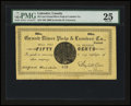 Canadian Currency: , Grand River, Canada- Grand River Pulp & Lumber Co. Limited 50¢NL30-10-00 UNL. ...