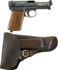 Military & Patriotic:WWI, Mauser Model 1914 Pocket Pistol and Holster. Cal. 7.65. SerialNumber 90889....