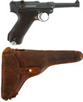 Military & Patriotic:WWI, DWM 1916 Luger and Early Swiss Holster. Cal. 9mm. Serial Number6713e....