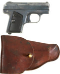 Military & Patriotic:WWI, C. G. Haenel Model 1 Pocket Pistol and Holster. Cal. .25. SerialNumber 5573....