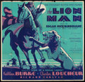 "Movie Posters:Adventure, The Lion Man (United Screen Associates, 1936). Six Sheet (81"" X81""). Adventure.. ..."