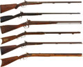 Military & Patriotic:Civil War, Group of Six Nineteenth Century Percussion Long Arms.... (Total: 6 Items)