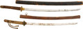 Military & Patriotic:WWII, Two WWII Japanese Officer's Swords.... (Total: 2 Items)