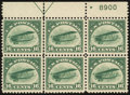 Stamps, 16¢ Green (C2),...