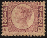 ½p Rose-Red / Rose (SG 48/49 / Scott 58)