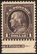 Stamps, $1 Violet Brown (423),...
