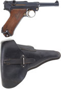 """Military & Patriotic:WWII, DWM Commercial Luger. Cal. 7.65mm. Serial Number 79460, 4"""" Barrel...."""