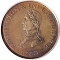 Colonials, 1783 1C Washington & Independence Cent, Small Military Bust,Engrailed Edge MS62 Brown PCGS....