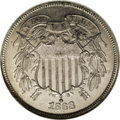 Patterns, 1868 2C Two Cents, Judd-614, Pollock-679, Low R.7, PR63 NGC....