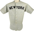 Baseball Collectibles:Uniforms, Circa 1933 Lou Gehrig Game Worn Jersey. Think for a moment about the reasons that you love the game of baseball, and those ...
