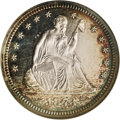 Proof Seated Quarters, 1873 25C Arrows PR64 Cameo NGC....