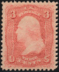 Stamps, 3¢ Rose (65),...