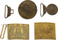 Military & Patriotic:Indian Wars, Group of Four Nineteenth Century American Accoutrement/ Belt Plates.... (Total: 4 Items)