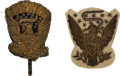 Military & Patriotic:Civil War, Two Eagle Devices for Pre-Civil War Shakos.... (Total: 2 Items)