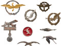 Military & Patriotic:WWI, Group of French Aviation-Related Badges and Pins.... (Total: 9Items)