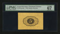 Fractional Currency:First Issue, Fr. 1231sp 5¢ First Issue Wide Margin Back PMG Superb Gem Unc 67 EPQ....