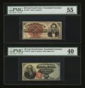 Fractional Currency:Fourth Issue, Fr. 1374 and Fr. 1376 50¢ Fourth Issue Notes.... (Total: 2 notes)
