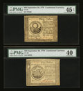 Colonial Notes:Continental Congress Issues, Continental Currency September 26, 1778 $30 and $50 PMG ExtremelyFine.... (Total: 2 notes)