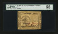 Colonial Notes:Continental Congress Issues, Continental Currency May 10, 1775 $5 PMG About Uncirculated 55....