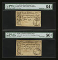 Colonial Notes:South Carolina, South Carolina April 10, 1778 3s9d and 10s PMG Remainders....(Total: 2 notes)