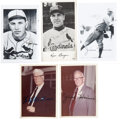 Baseball Collectibles:Photos, Baseball Hall of Famers Signed Photographs Lot of 5....