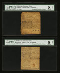 Colonial Notes:Delaware, Delaware March 1, 1758 15s and 20s PMG Very Good 8 Net.... (Total:2 notes)