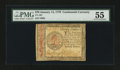 Colonial Notes:Continental Congress Issues, Continental Currency January 14, 1779 $70 PMG About Uncirculated55....