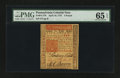 Colonial Notes:Pennsylvania, Pennsylvania April 10, 1775 £5 PMG Gem Uncirculated 65 EPQ....
