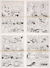 "Romano Scarpa Complete 14-page Story ""The Dollar Stalactite"" Original Art (Disney, 1986).... (Total: 14 Items)"