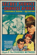 """Movie Posters:Action, Secret Service in Darkest Africa (Republic, 1943). One Sheet (27"""" X 41"""") Chapter 2 -- """"The Charred Witness."""" Serial.. ..."""