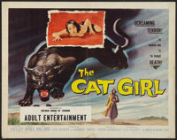 "The Cat Girl (American International, 1957). Half Sheet (22"" X 28""). Horror"