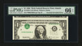 Error Notes:Inverted Third Printings, Fr. 1923-F $1 1995 Web Federal Reserve Note. PMG Gem Uncirculated66 EPQ.. ...