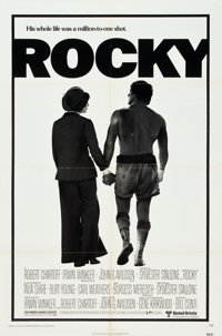 "Rocky (United Artists, 1977). One Sheet (27"" X 41"") and Lobby Card Set of 8 (11"" X 14""). ... (Total:..."