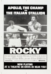 "Rocky (United Artists, 1977). One Sheet (27"" X 41"") Drive-In Style"