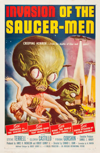 "Invasion of the Saucer-Men (American International, 1957). One Sheet (27"" X 41"")"