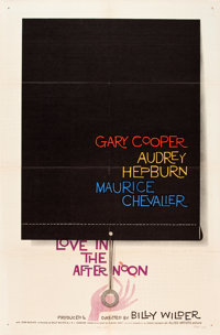 """Love in the Afternoon (Allied Artists, 1957). One Sheet (27"""" X 41"""")"""