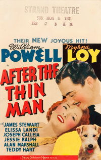 """After the Thin Man (MGM, 1936). Window Card (14"""" X 22"""")"""