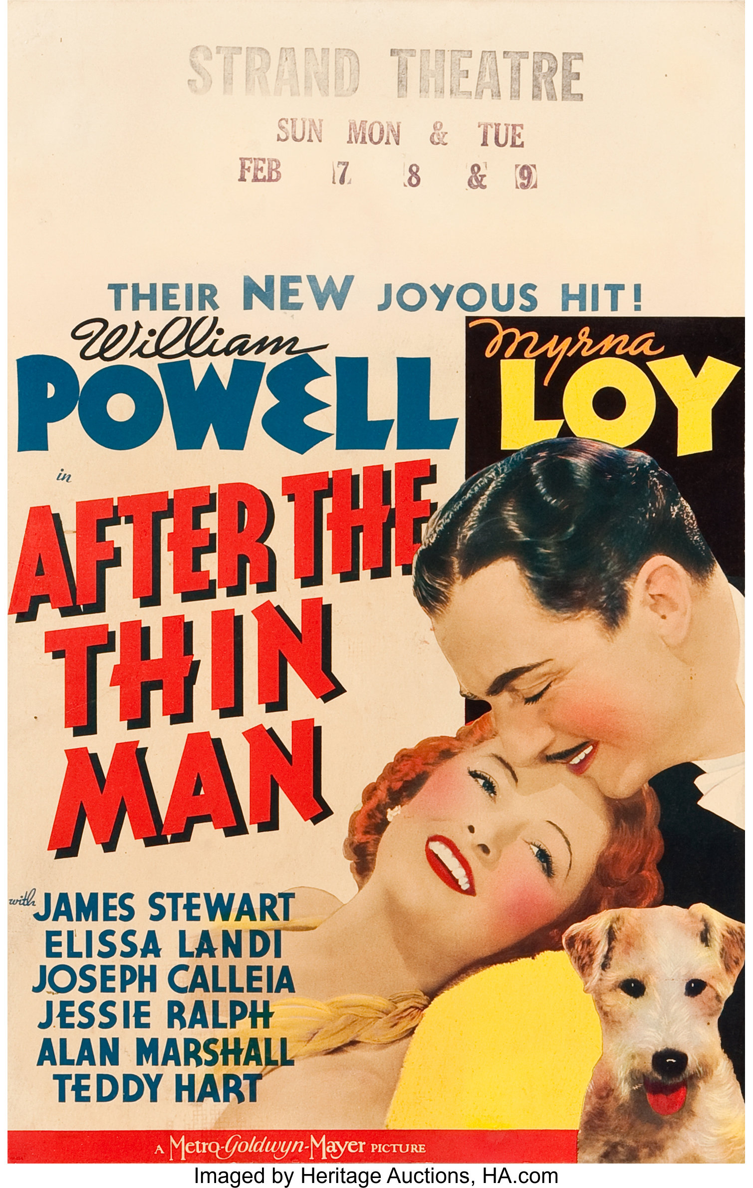 After the Thin Man Movie POSTER 22 x 28 William Powell Myrna Loy USA A NEW