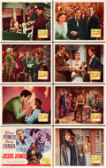 "Movie Posters:Western, Jesse James (20th Century Fox, R-1946). Lobby Card Set of 8 (11"" X14"").. ... (Total: 8 Items)"