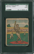 Baseball Cards:Singles (1930-1939), 1933 R337 Eclipse Imports Bill Terry #405 SGC 10 PR 1. ...