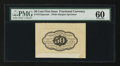 Fractional Currency:First Issue, Fr. 1313SP 50¢ First Issue Wide Margin Back PMG Uncirculated 60....