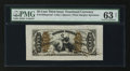 Fractional Currency:Third Issue, Fr. 1355SP 50¢ Third Issue Justice Wide Margin Face PMG Choice Uncirculated 63 Net....