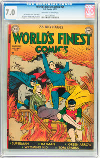 World's Finest Comics #51 (DC, 1951) CGC FN/VF 7.0 Off-white to white pages