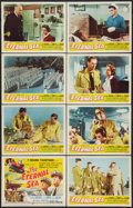 "Movie Posters:War, The Eternal Sea (Republic, 1955). Lobby Card Set of 8 (11"" X 14"").War.. ... (Total: 8 Items)"