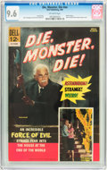 Silver Age (1956-1969):Horror, Movie Classics - Die, Monster, Die #nn (Dell, 1966) CGC NM+ 9.6Off-white pages....