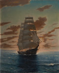 Paintings, ANTON OTTO FISCHER (American, 1882-1962). Clipper Ship at Dawn. Oil on canvas. 25 x 21 in.. Signed lower right. From...